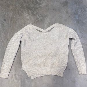 Urban outfitters sweater with criss cross back